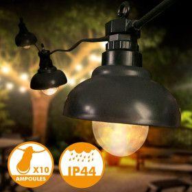 Guirlande LED extérieur Factory 2,7m 10 Ampoules