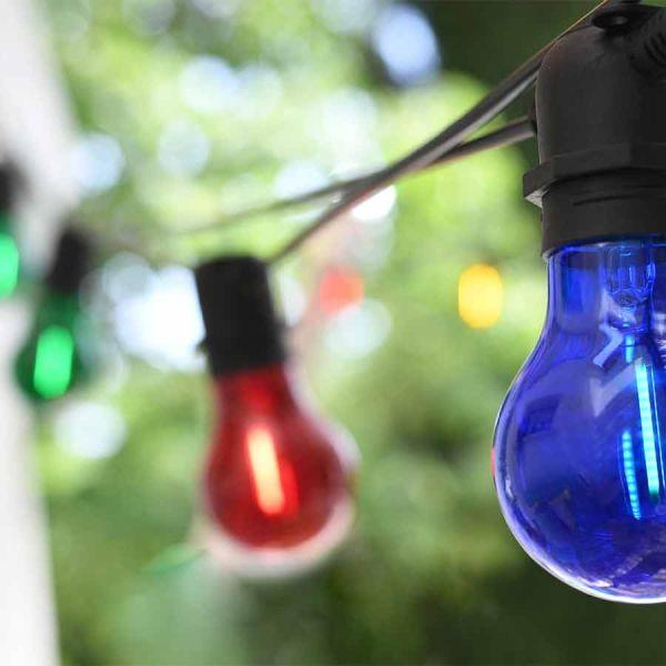 Guirlande fête LED 8 Ampoules Filament 4M90