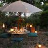 Guirlande solaire rideau micro LED pour parasol