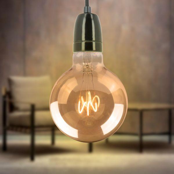 Ampoule LED E27 G95 Ambrée Filament DécoVintage 2,5W