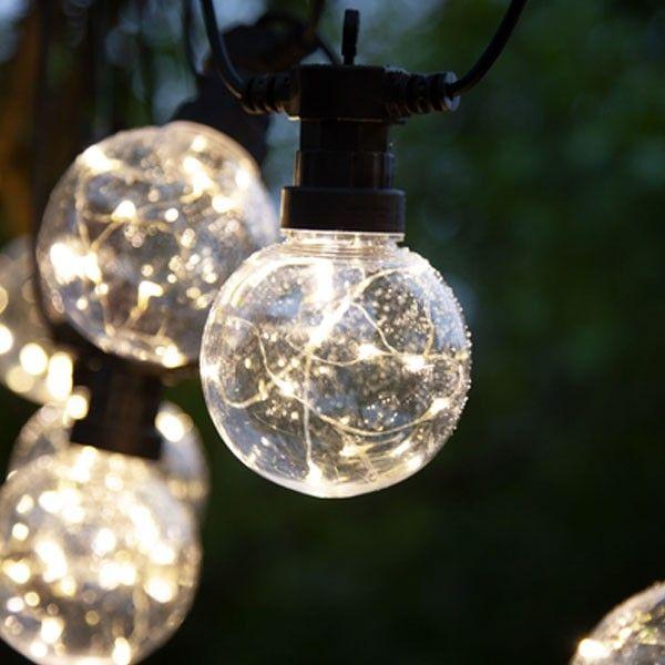 Guirlande 10 Ampoules de 10 MicroLED Blanc Chaud
