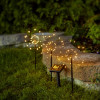3 Piquets Solaires Feu d'Artifices LED Blanc Chaud