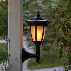 Lanterne Solaire Noir 4 en 1 Effet Flamme