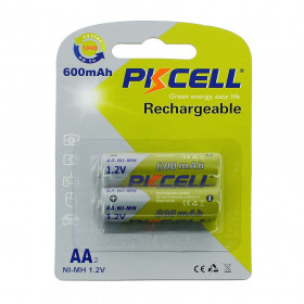 2 batteries piles solaire rechargeables LR6 AA - Ni-MH 600 mAh