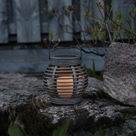 Lanterne Solaire LED en Rotin