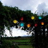 Guirlande LED Solaire de 10 Lampions multicolores