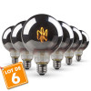 Lot de 6 Ampoules LED E27 G95 Smoky Filament Déco Vintage