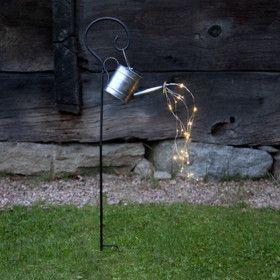 Piquet Solaire Arrosoire 28 LED Blanc Chaud