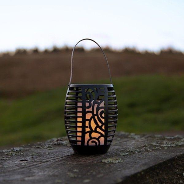 Torche Solaire LED 3 en 1 Effet Flamme
