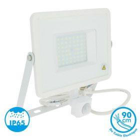 Projecteur LED 30W detecteur de mouvement blanc froid