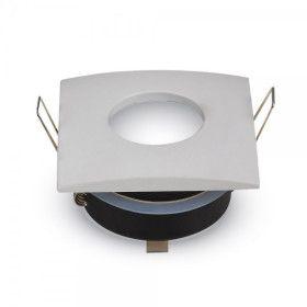 Support GU10 carré Blanc IP54