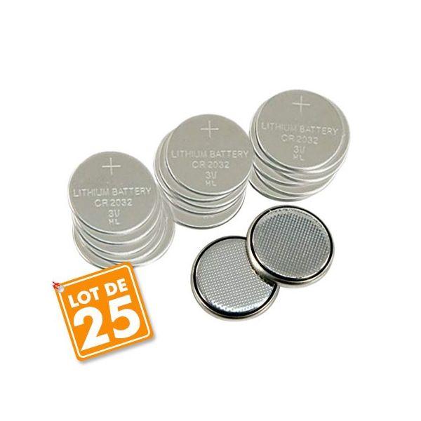 Lot de 25 piles Lihtium CR2032 PKCELL