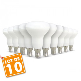 Lot de 10 ampoules LED E14 R50 6W 510Lm
