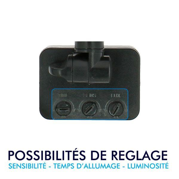 Projecteur LED 50W Noir détecteur de mouvement IP44