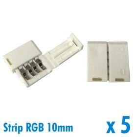 Lot de 5 connecteurs pour ruban RGB 10mm