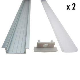 Profilé d'encastrement inox 2 x 1 mètres