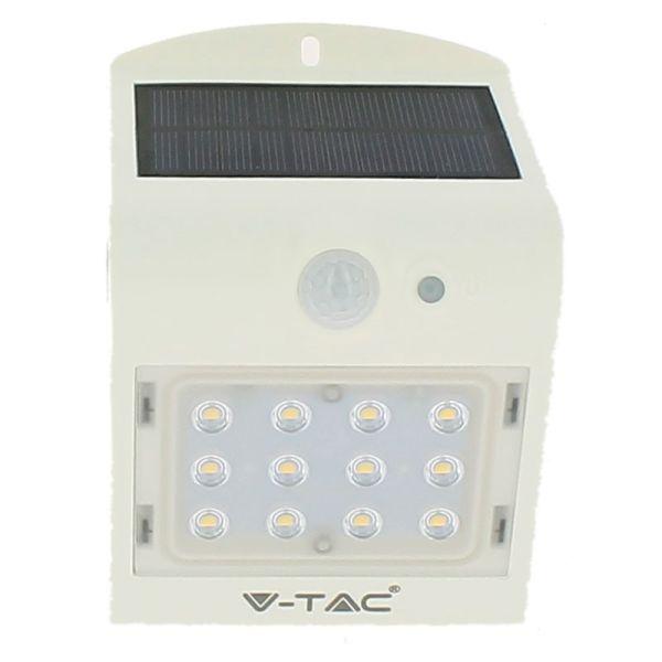 Applique solaire Blanc  extérieur 1.5W Blanc naturel