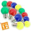 Lot de 12 Ampoules E27 Panaché Guirlande guinguette extérieur