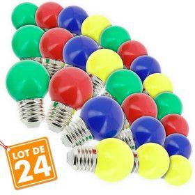Lot de 24 Ampoules E27 Guirlande guinguette extérieur