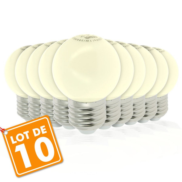 Lot de 10 Ampoules Led Blanc Chaud 1 watt (équivalent à 10 watt) Guirlande Guinguette E27