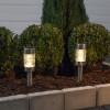 Lot de 2 Balises LED solaire à planter