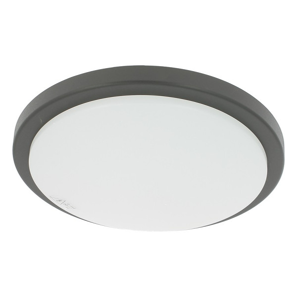 Applique LED MERIBEL 18W Détecteur Extérieur Enjoliveur noir ou blanc
