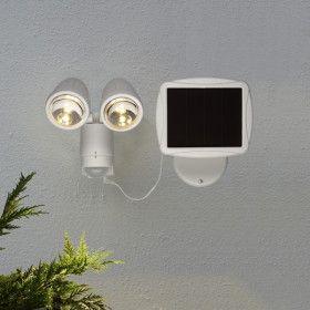 Projecteur solaire LED 2 têtes blanc chaud