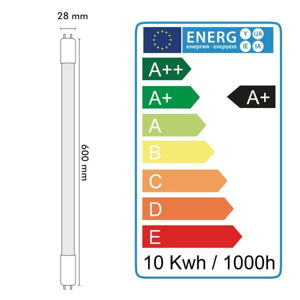 LED Tube Pro Blanc naturel T8 20W 60cm connexion latérale