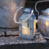Bougie LED Lanterne métal ZINK