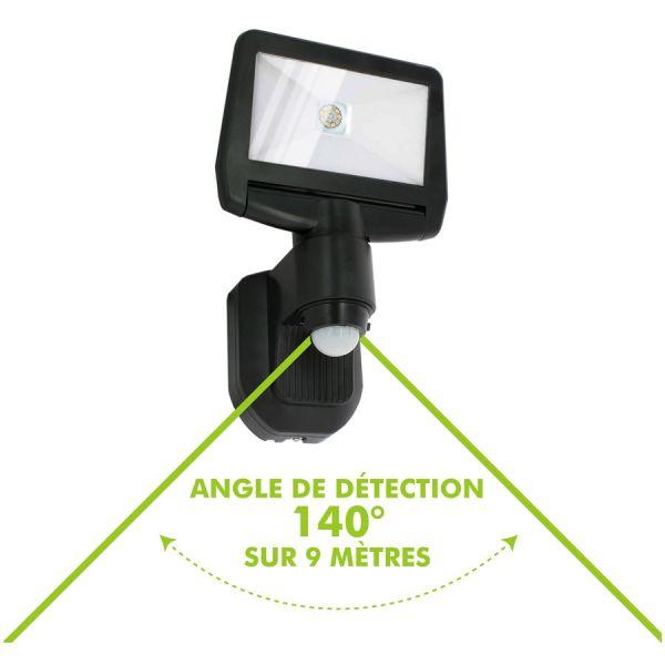 Projecteur Solaire 850Lm Détection de Mouvement avec panneau Solaire