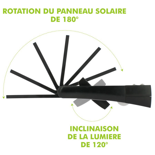 Applique Mural Solaire 170Lm avec détecteur de Mouvement