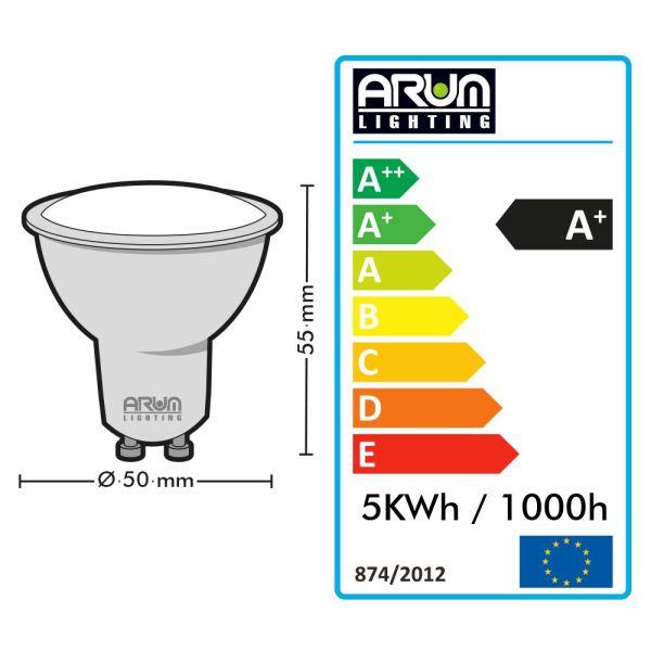 Lot d'Ampoules GU10 7W eq. 60W