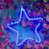 Motif étoile bleue LED Int / Ext