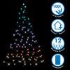 Guirlande LED extérieur animé 100 Multicolore 9,9 mètres + Télécommande