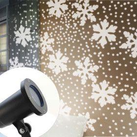 Projecteur LED Flocons de Neige Blanc Pur