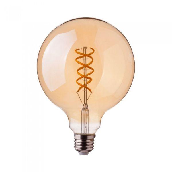 Ampoule LED E27 GLOBE Curve Filament vintage