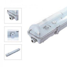 Boitier étanche 1M20 pour 1 tube LED
