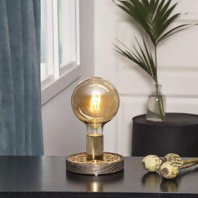 Lampe de table a poser MAGIC Finition Dorée Marron