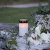 Bougie led décorative Cimetière Blanche