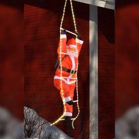 Père Noël de 120 cm avec son échelle Lumineuse