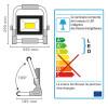 Projecteur Slim chantier sur Batterie 1000 Lumens 20W