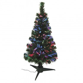 Sapin Led fibre optique LED multicolore 80cm