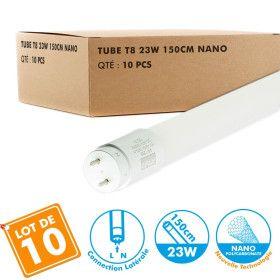 Lot de 10 Tubes T8 LED 150cm 23W connexion latérale