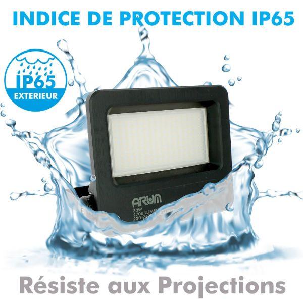 Projecteur LED 30W Forte luminosité 2700 Lumens de IP65 Anti-Corrosif