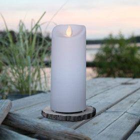 Bougie LED décorative 17.5 cm avec minuteur