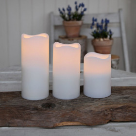 Pack de trois bougies blanc chaud télécommandé