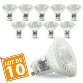 Lot de 10 Ampoules GU10 5W PRO 420 Lm Equi. 45W