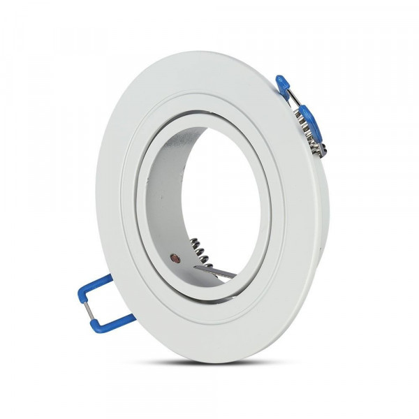 Support orientable rond Alu D91 Blanc
