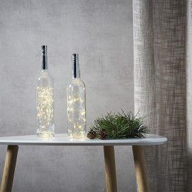 Guirlande déco bouteille Argenté de 40 Micro LED à piles