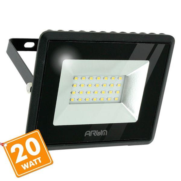 Projecteur LED ATRIA 20W Noir IP65 Extérieur
